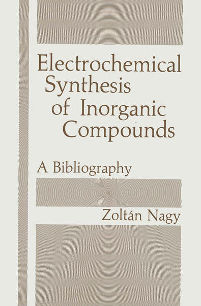 Electrochemical Synthesis of Inorganic Compounds - Coverbild