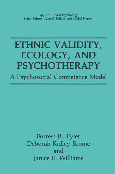 Ethnic Validity, Ecology, and Psychotherapy - Coverbild