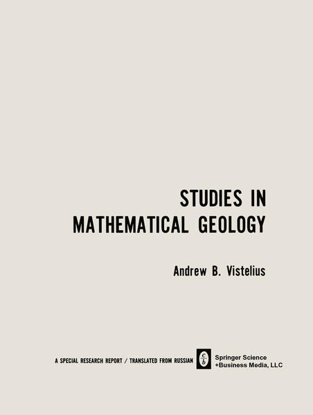 Studies in Mathematical Geology - Coverbild