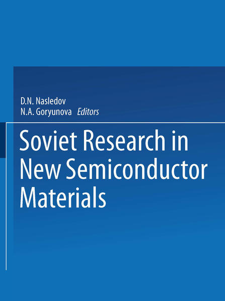 Soviet Research in NEW SEMICONDUCTOR MATERIALS - Coverbild