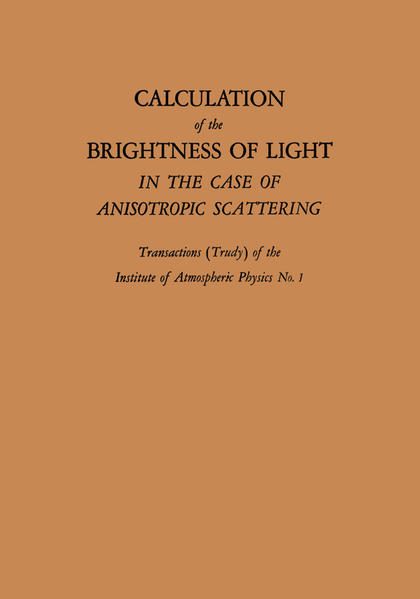 Calculation of the Brightness of Light - Coverbild