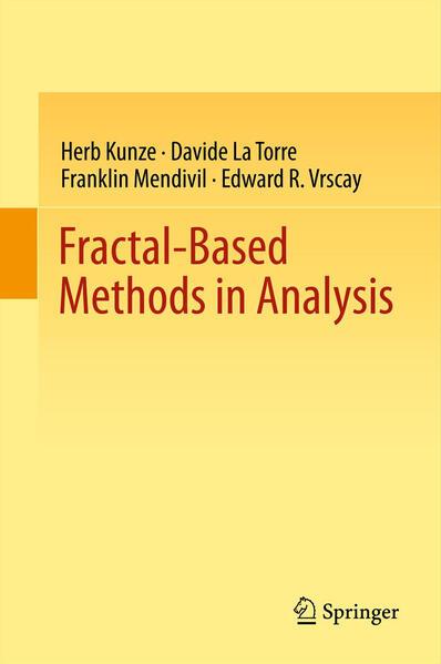 Fractal-Based Methods in Analysis - Coverbild