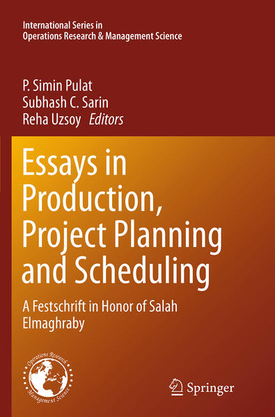 Essays in Production, Project Planning and Scheduling - Coverbild
