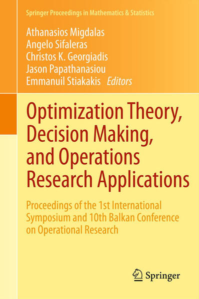 Optimization Theory, Decision Making, and Operations Research Applications - Coverbild