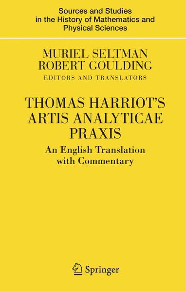 Thomas Harriot's Artis Analyticae Praxis - Coverbild