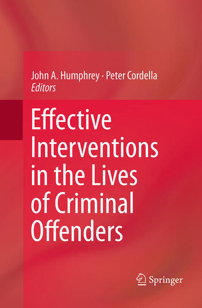 Effective Interventions in the Lives of Criminal Offenders - Coverbild
