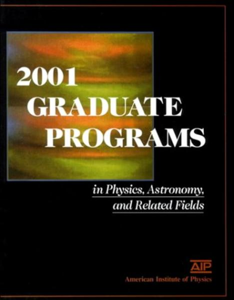 2001 Graduate Programs in Physics, Astronomy, and Related Fields - Coverbild