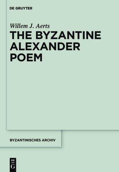 The Byzantine Alexander Poem - Coverbild