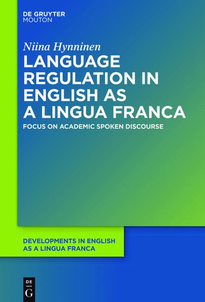 Language Regulation in English as a Lingua Franca - Coverbild