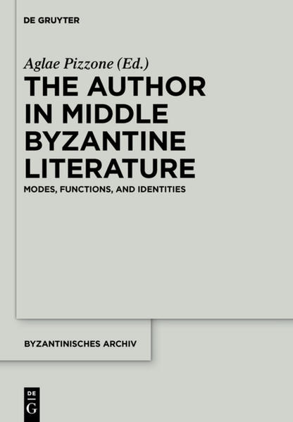 The Author in Middle Byzantine Literature - Coverbild
