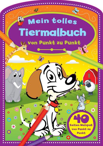 Mein tolles Tiermalbuch - Coverbild