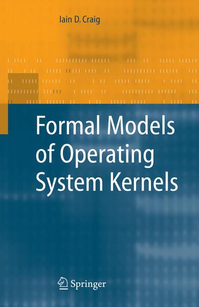 Formal Models of Operating System Kernels - Coverbild