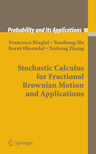 Stochastic Calculus for Fractional Brownian Motion and Applications - Coverbild