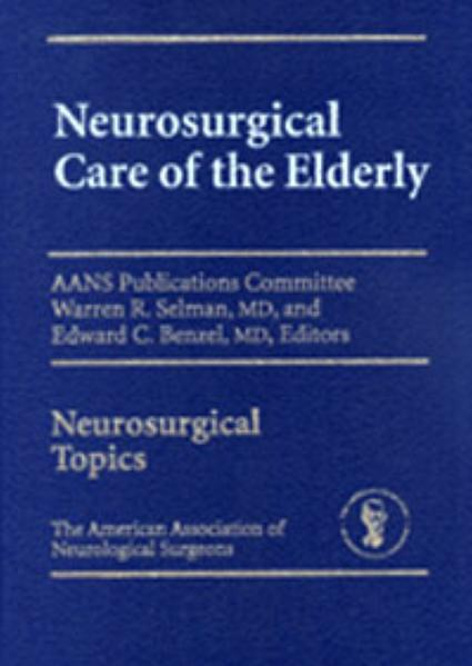 Neurosurgical Care of the Elderly - Coverbild