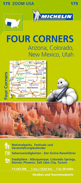 Michelin Four Corners, Arizona, Colorado, New Mexiko, Utah - Coverbild