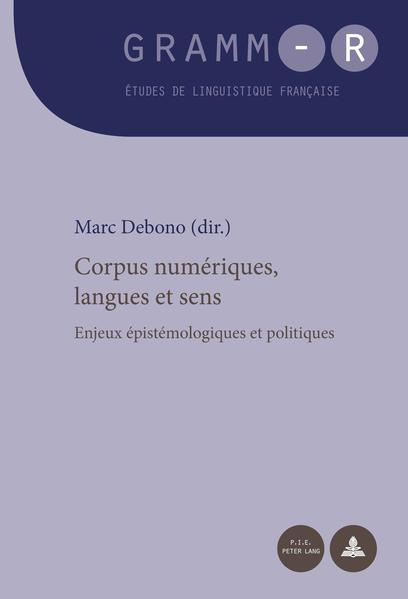 Corpus numériques, langues et sens PDF Herunterladen