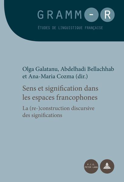Sens et signification dans les espaces francophones - Coverbild