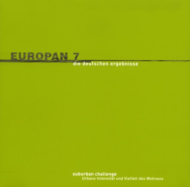 Europan 7 - Die deutschen Ergebnisse - Coverbild