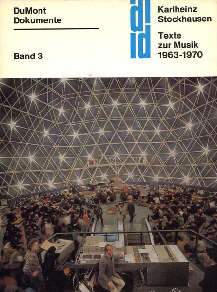 Texte zur Musik 1963-1970 - Coverbild