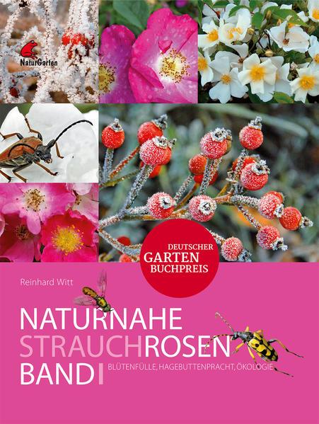 Naturnahe Rosen - Garten und Wildformen. Band 1: Strauchrosen. Blütenfülle, Hagebuttenpracht, Ökologie. - Coverbild