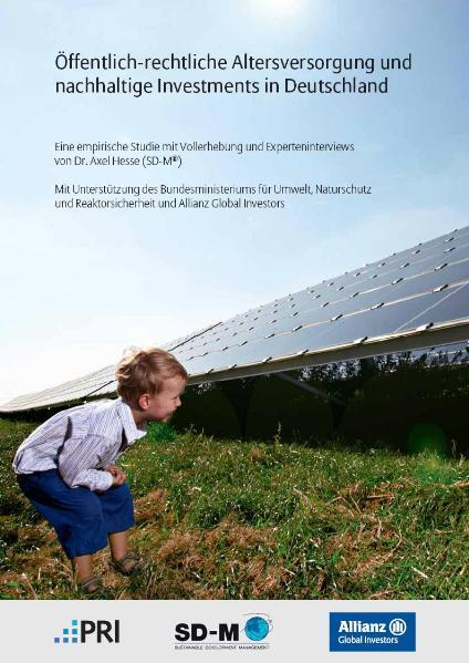 Öffentlich-rechtliche Altersversorgung und nachhaltige Investments in Deutschland von Dr. Axel Hesse (SD-M) - Coverbild