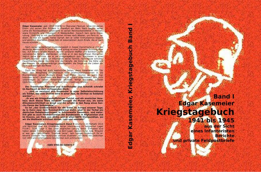 Band 1 Edgar Kasemeier Kriegstagebuch 1941 bis 1945 - Coverbild