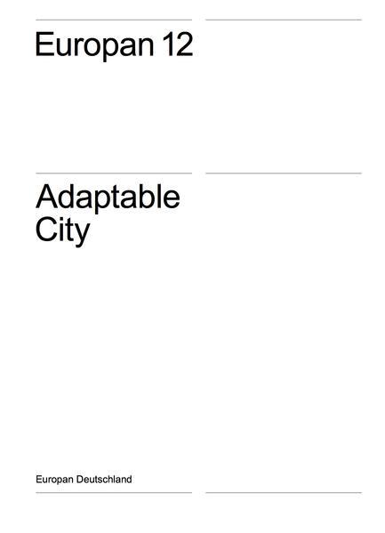 Europan 12 - Adaptable City - Coverbild