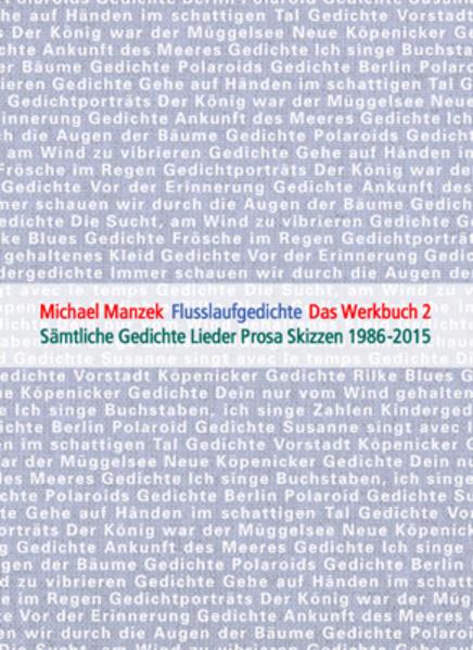 Michael Manzek Die Gedichte Das Werkbuch Band 2 - Coverbild