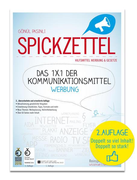 SPICKZETTEL – Das 1x1 der Kommunikationsmittel – Werbung - Coverbild