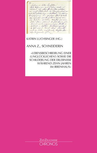 Anna Z., Schneiderin - Coverbild