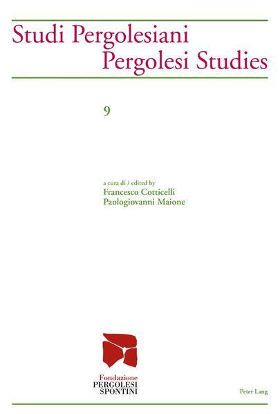Studi Pergolesiani- Pergolesi Studies - Coverbild