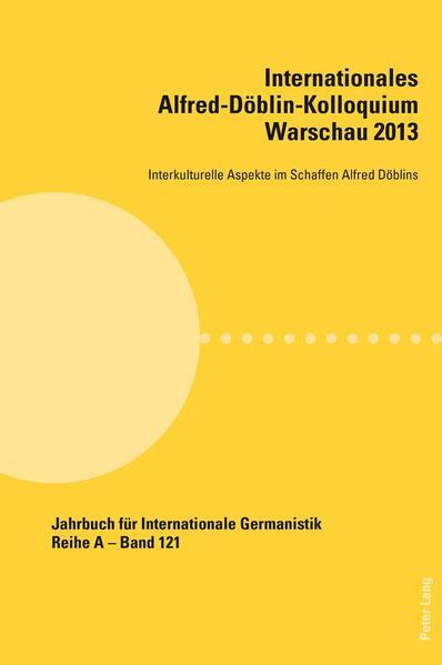 Internationales Alfred-Döblin-Kolloquium Warschau 2013 - Coverbild