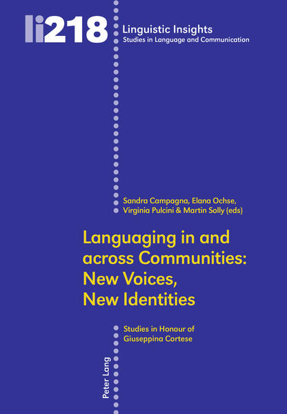 Languaging in and across Communities: New Voices, New Identities - Coverbild