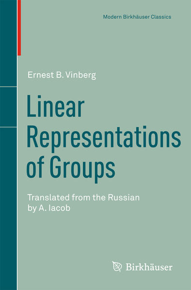 Linear Representations of Groups - Coverbild