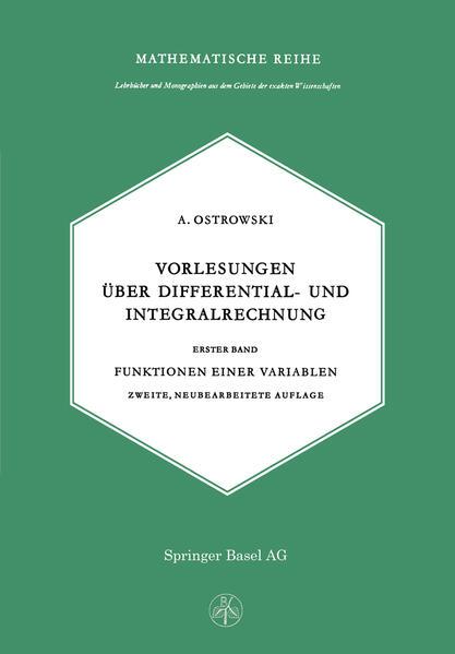 Vorlesungen über Differential- und Integralrechnung - Coverbild