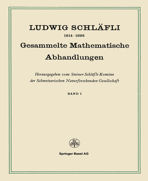 Gesammelte Mathematische Abhandlungen - Coverbild