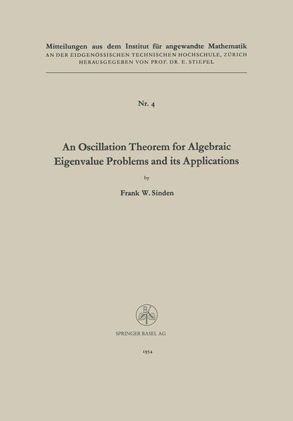 An Oscillation Theorem for Algebraic Eigenvalue Problems and its Applications - Coverbild