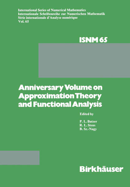 Anniversary Volume on Approximation Theory and Functional Analysis - Coverbild