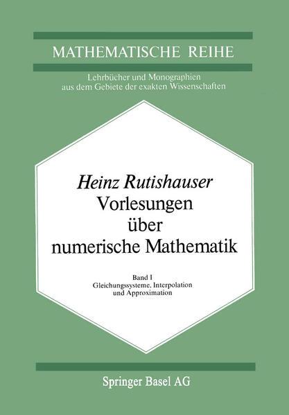 Vorlesungen über Numerische Mathematik - Coverbild