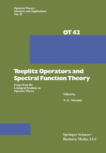 Toeplitz Operators and Spectral Function Theory - Coverbild