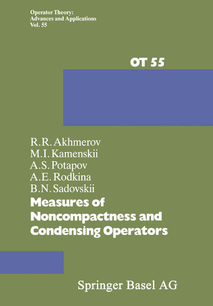 Measures of Noncompactness and Condensing Operators - Coverbild