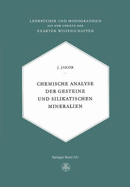 Chemische Analyse der Gesteine und Silikatischen Mineralien - Coverbild
