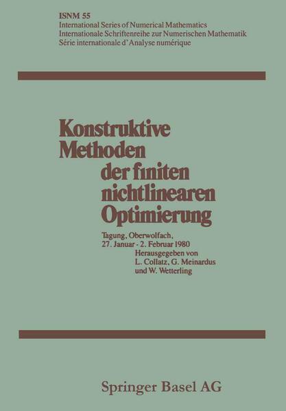 Konstruktive Methoden der finiten nichtlinearen Optimierung - Coverbild