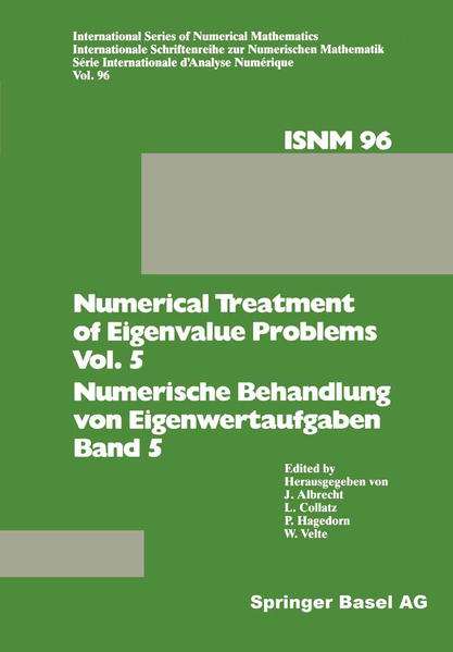 Numerical Treatment of Eigenvalue Problems Vol. 5 / Numerische Behandlung von Eigenwertaufgaben Band 5 - Coverbild