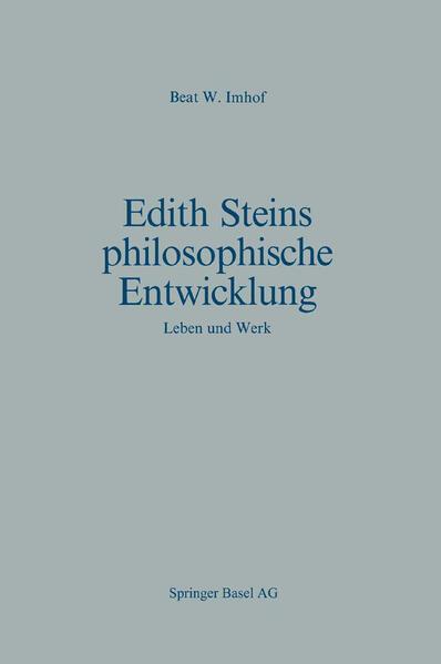 Edith Steins philosophische Entwicklung - Coverbild