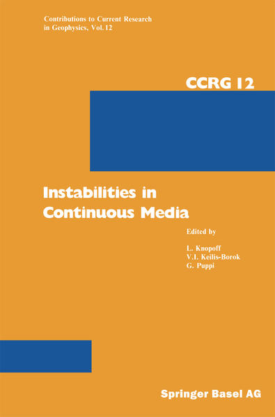 Instabilities in Continuous Media - Coverbild