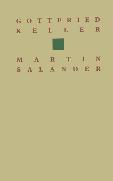 Gottfried Keller Martin Salander - Coverbild