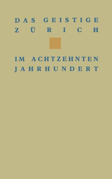 Das geistige Zürich im 18. Jahrhundert - Coverbild