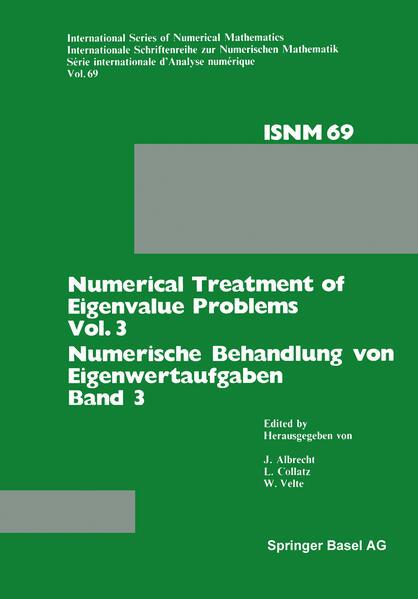 Numerical Treatment of Eigenvalue Problems Vol. 3 / Numerische Behandlung von Eigenwertaufgaben Band 3 - Coverbild