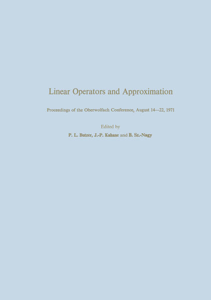 Linear Operators and Approximation / Lineare Operatoren und Approximation - Coverbild